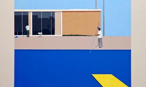 Ramiro Gomez, No Splash (after David Hockney's A Bigger Splash, 1967), 2013