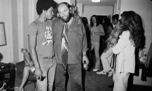 Todd Gray with Peter Grant, manager for Led Zeppelin.