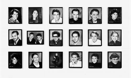 Eighteen black and white photographs. Hammer Museum, Los Angeles. Gift of Robert Gober © 1986 David Robbins. Photo courtesy of the artist.