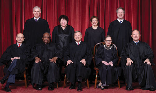 Group photo of US Supreme Court