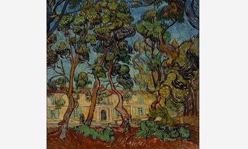 Vincent van Gogh, Hospital at Saint-Rémy, 1889. Oil on canvas. 36 5/16 x 28 7/8 in. (92.2 x 73.4 cm). The Armand Hammer Collection, Gift of the Armand Hammer Foundation. Hammer Museum, Los Angeles.