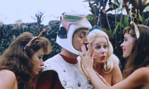 "Still from ""Nude on the Moon"" (1961) Dir. Doris Wishman (as Anthony Brooks)"
