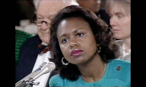 Anita Hill testifying before Congress in 1991