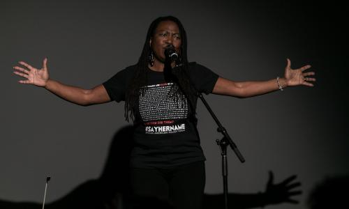Performer at the Hammer's 2018 Say Her Name program